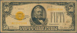 United States Of America: 50 Dollars Gold Certificate, Series 1928, P.402 In Nice Attractive Conditi - United States Of America