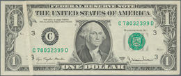 United States Of America: Error Note 1 Dollar 1977 P. 462, With Error Print, Caused By Fold Error In - United States Of America