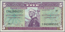 United States Of America: 5 Dollars ND(1969) Military Payment Certificate Series 681 P. M80, Light C - United States Of America