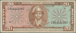 United States Of America: Set Of 2 Notes Military Payment Certificates Series 681, 10 & 20 Dollars N - United States Of America