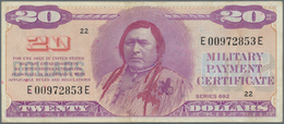United States Of America: 20 Dollars ND(1970) Military Payment Certificate P. M98, Used With Light C - United States Of America