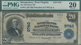 United States Of America: The Merchants National Bank Of MONTGOMERY, West Virginia 20 Dollars Series - United States Of America
