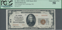 United States Of America: The Lechmere National Bank Of CAMBRIDGE, Massachusetts 20 Dollars Series 1 - United States Of America