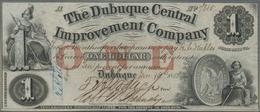 United States Of America: IOWA - The Dubuque Central Improvement Company 1 Dollar 1858, Countersigne - United States Of America
