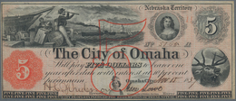 United States Of America: NEBRASKA TERRITORY - City Of Omaha 5 Dollars 1837 In Perfect UNC Condition - United States Of America