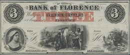 United States Of America: NEBRASKA Bank Of Florence 3 Dollars 18xx Remainder In Perfect UNC Conditio - United States Of America