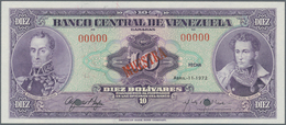 Venezuela: 10 Bolivares April 11th 1972 SPECIMEN, P.51bs In UNC Condition. - Venezuela