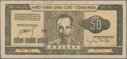 Vietnam: Nice Lot With 11 Banknotes Of The 1950's Series Comprising 2 X 50 Dong 1950 P.32 In VF/aUNC - Vietnam