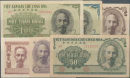 Vietnam: First Series Of The National Bank Of Vietnam 1951 With 6 Banknotes Including 10 Dong P.59a - Vietnam
