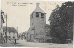 SAINT ETIENNE DE FURSAC: L'EGLISE ET GRANDE RUE - France