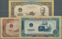Vietnam: Small Lot With 1, 2 And 5 Dong Series 1958, P.71-73 In VF To UNC Condition - Vietnam