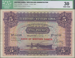 Western Samoa / West-Samoa: Territory Of Western Samoa 5 Pounds May 1st 1961 Treasury Note, P.17, Ex - Samoa