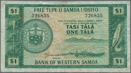 Western Samoa / West-Samoa: Pair With 1 And 2 Tala ND(1967), P.16b, 17a, Both In Used Condition With - Samoa
