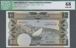 Yemen / Jemen: Pair Of 2 Banknotes From Yemen Democratic Republic / Peoples Democratic Republic 10 D - Yemen