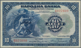 Yugoslavia / Jugoslavien: 10 Dinars 1920 P. 21 In Lightly Used Condition With Folds But No Holes Or - Yugoslavia