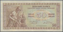 Yugoslavia / Jugoslavien: Very Nice Set Of The 1946 And 1955 Series Comprising 50, 2 X 100, 500 And - Yugoslavia
