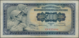 Yugoslavia / Jugoslavien: 5000 Dinara 1955, P.72b Key Note Of This Series With Some Handling Marks L - Yugoslavia