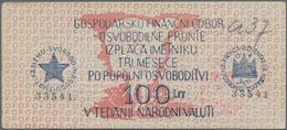 Yugoslavia / Jugoslavien: State Financial Department, Liberation Front 50 And 100 Lit ND(1944), P.S1 - Yugoslavia