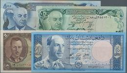 Afghanistan: Set With 9 Banknotes 2 - 500 Afghanis Ca. 1939-2002, P.21, 38, 49, 51, 55, 58, 60, 65 I - Afghanistan