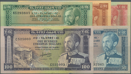 Ethiopia / Äthiopien: Very Nice Set With 8 Banknotes Comprising 1, 5, 10, 50 And 100 Dollars ND(1966 - Ethiopia