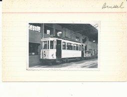 TRAM  VICINAL  BRUSSEL  BRUXELLES Depot  Photo Foto  9 X 6 Cm - Transport Urbain En Surface