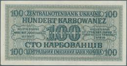Ukraina / Ukraine: Lot Von 88 Scheinen: Um 1918 11 Scheine Und Bond Certificates 2-1000 Hryven, 24 S - Ukraine