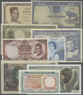 Alle Welt: Large Set Of 80 Higher Value Banknotes From African Countries, Mostly Different, But Also - Banknotes