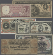 Alle Welt: Large Set Of 64 Higher Value Banknotes From American (mostly South American) Countries, M - Banknotes