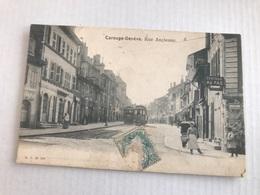 CAROUGE - GENÈVE Rue Ancienne Animée Et Tramway - GE Ginevra