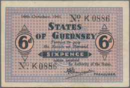 Alle Welt: Very Nice Lot With 24 Banknotes Containing Great Britain 2 X 1 Pound ND(1940-48) In VF, F - Banknotes