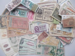 Alle Welt: Huge Lot With About 500 Banknotes From All Over The World, Mainly Russia / USSR, Europe ( - Banknotes