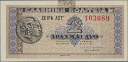 Alle Welt: Small Collectors Album With 57 Banknotes Comprising For Example Russia - Siberia 50 Kopek - Banknotes