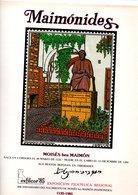 CORDOBA. DOCUMENTO EXFILCOR-85. MATASELLO ESPECIAL MAIMONIDES - Marcofilia - EMA ( Maquina De Huellas A Franquear)