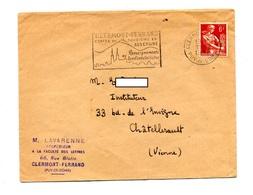 Lettre Flamme Clermont Ferrand Tourisme Sur Moisson - Postmark Collection (Covers)