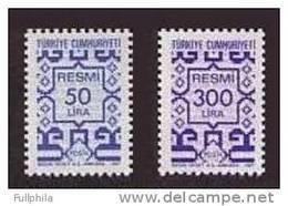 1987 TURKEY OFFICIAL STAMPS MNH ** - 1921-... République