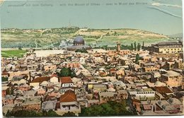 "PALESTINE CARTE POSTALE JERUSALEM AVEC LE MONT.. AVEC CACHET ""PALESTINE CENSORSHIP N°2"" DEPART ARMY POST.. ? JU 18 SZ44 - Palestine"