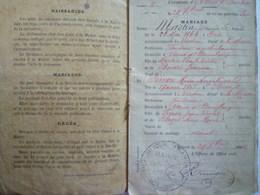 GP 2019 - 1175  VAUX-DEVANT-DAMLOUP  (Meuse)  :  Livret De Famille De  François MARTIN   1886   XXX - Old Paper