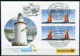 "Germany 2006 Ausstellungsbeleg Espana M.Mi.Nr.2556 U.SST""Bonn-ESPANA, Intern.Briefmarkenausstellung,Malaga""1Beleg - Leuchttürme"