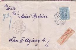 V1 - ÖSTERREICH EXPRESS ROHRPOST 1924 - 3000  Kronen + 59 Auf Brief, Gel. ? > Wien VI, Transportspuren - Briefe U. Dokumente