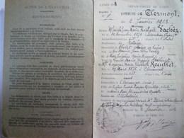 GP 2019 - 1176  CLERMONT  (Oise)  :  Livret De Famille De  Joseph, Jean-Marie , Raphaël  VACHEZ   1923   XXX - Old Paper