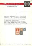 """3570 """"FAG ITALIANA S.p.A.-SALDO LIQUIDAZIONE PER CESSATO RAPPORTO DI LAVORO-1972"""" - ORIGINALE - Italy"""