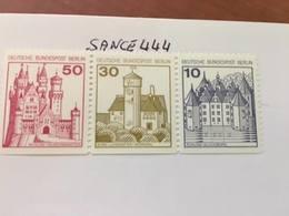 Berlin Castle Strip 50+30+10 Bottom Imperf. Mnh 1977 - [5] Berlin