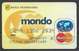 Romania Banca Transilvania, Mondo,Exp. Date 2007 - Geldkarten (Ablauf Min. 10 Jahre)