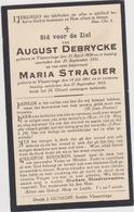 DOODSPRENTJE DEBRYCKE AUGUST (1858 - 1933) En STRAGIER MARIA (1861 - 1933) VLAMERTINGE - Devotieprenten