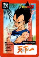 Carte Dragon Ball Z Carddass-Bandai 1995 Héros 6 Végéta Tournoi Tournament En TB.Etat - Dragonball Z