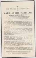 DOODSPRENTJE MARESCAU MARIE-LOUISE WEDUWE BARROO VLAMERTINGE (1965 - 1942) - Imágenes Religiosas