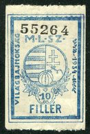 Hungary 1934 Football World Cup Italy Soccer Fussball Fundraising For Hungarian Team Revenue Fiscal Tax Gebührenmarke - 1934 – Italien