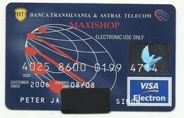 Romania, Banca Transilvania,Maxishop, Exp. Date 2008 - Geldkarten (Ablauf Min. 10 Jahre)