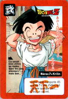 Carte Dragon Ball Z Carddass-Bandai 1995 Héros 7 Krilin Tournoi Tournament En TB.Etat - Dragonball Z