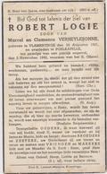 DOODSPRENTJE LOGIE ROBERT ZOON VAN MARCEL EN VERHEYLESONNE VLAMERTINGE POELKAPELLE (1921 - 1942) - Devotion Images